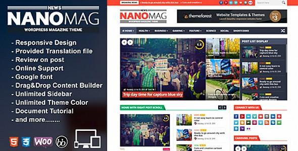 قالب نانو ماج nanomag لمجلات ووردبريس والمواقع التقنية
